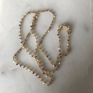 Madewell gold and bead necklace choker